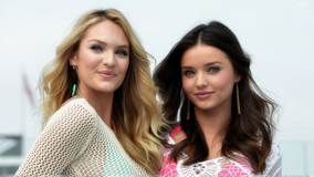 Miranda Kerr N Candice Swanepoel Smiling At Victoria&#8217;s Secret SWIM Collection